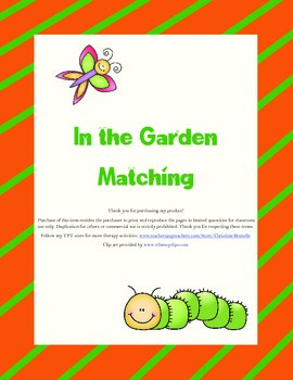 In the Garden Matching (open-ended game)