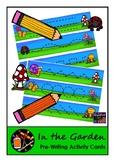 In the Garden - Pre-Writing Cards
