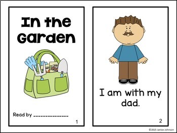 In the Garden Reader & Sorting page {Young Readers, ESL, EFL}
