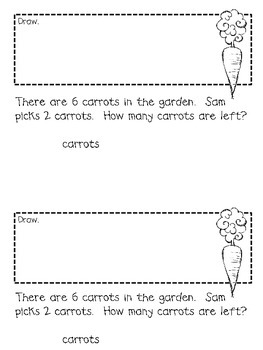 In the Garden Subtraction Word Problem Book