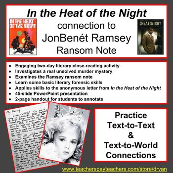 In the Heat of the Night + JonBenét Ramsey Ransom Note:Text-to-World Connections