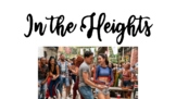 In the Heights Vocabulary Printable, Flashcards, Word Wall
