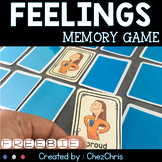 Feelings and Emotions Memory Game FREEBIE