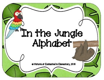 In the Jungle Alphabet Cards