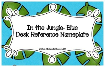In the Jungle Blue Desk Reference Nameplates