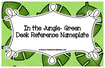 In the Jungle Green Desk Reference Nameplates