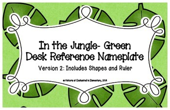 In the Jungle Green Desk Reference Nameplates Version 2