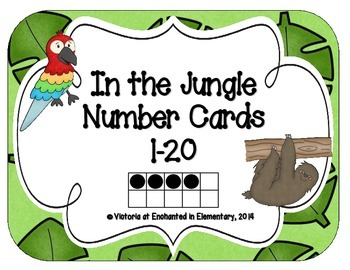 In the Jungle Number Cards 1-20