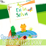 Jungle Spanish Interactive Vocabulary Book for Speech Therapy