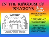 In the Kingdom of Polygons- Geometry Shape Hunt-Color by Shape