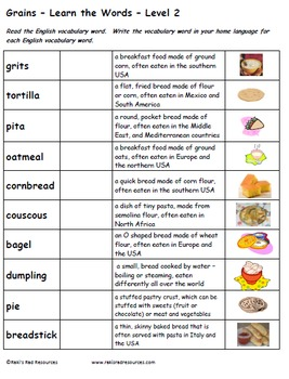 In the Kitchen - Bundle of 5 Differentiated Vocabulary Packets for ELLs