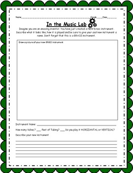 In the Lab Instrument Creation Activity
