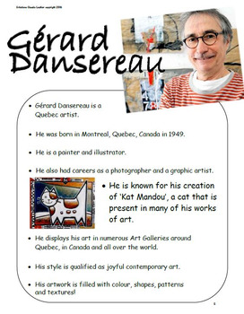 In the Style of Gérard Dansereau - Art Lesson Plan