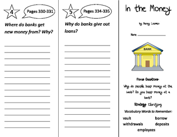 In the Money Trifold - Imagine It 2nd Grade Unit 3 Week 2