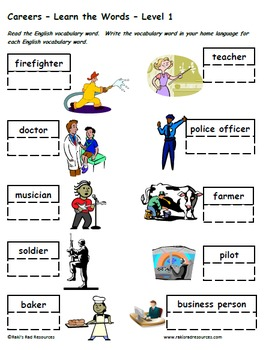 In the Neighborhood - Set of 5 Differentiated ESL Vocabulary Packets