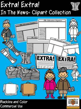 In the News! Clipart Collection