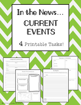 In the News: Current Events Tasks READY To USE With Any News Sources!