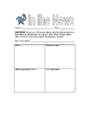 In the News: Using the 5 W's and H to Investigate