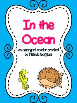 In the Ocean emergent reader and vocabulary cards