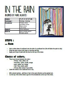 Autumn Art Activity and Lesson Plan for Kids: In the Rain, Spring