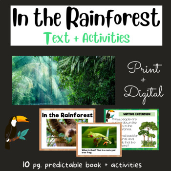 In the Rainforest:  Early Reader #14 using Fry's First 100 Words