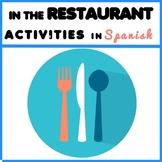 In The Restaurant - Restaurante - Spanish Activity Pack
