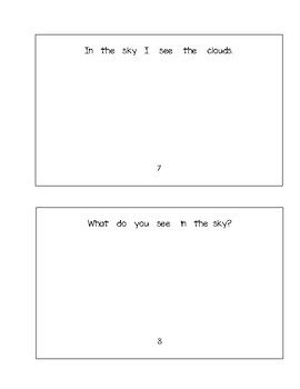 In the Sky - Booklet + Worksheet