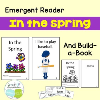 In the Spring Emergent Reader & Build-A-Book Book  {Young Readers, ESL, EFL}