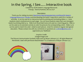 In the Spring...I See.  An interactive book packet!