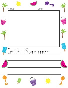 In the Summer Writing Prompt