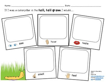 In the Tall, Tall Grass Language Activities