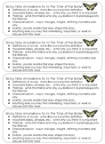 In the Time of the Butterflies Annotating Bookmark