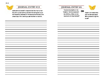 In the Time of the Butterflies Response Journal
