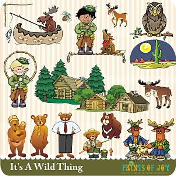 In the Wild Camping Clipart Graphics