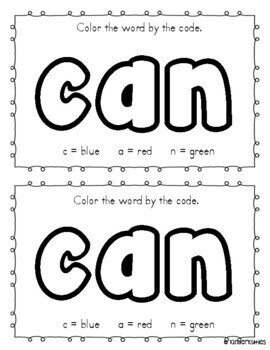 """In the Winter I Can"" sight word emergent reader"