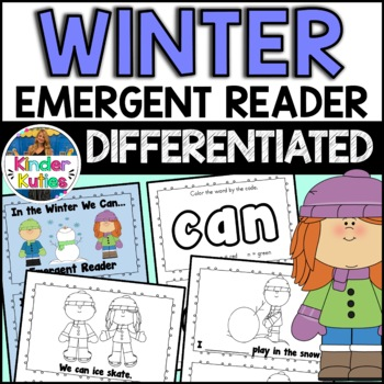"""""""In the Winter I Can"""" sight word emergent reader"""