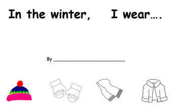 In the Winter, I Wear... (Adapted Book Printable)
