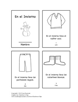 In the Winter Mini-book in both English and Spanish