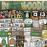 In the Woods Camping Camp Out Woodland Animals Classroom Decoration Bundle