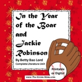 In the Year of the Boar and Jackie Robinson with distance learning option