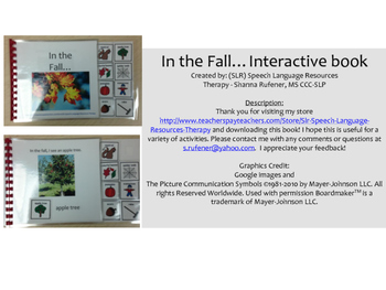 In the fall....Interactive Book