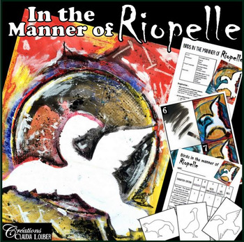 In the Style of Riopelle: Art lesson plan for kids