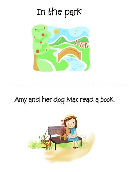 In the park book in english & spanish FREEBIE