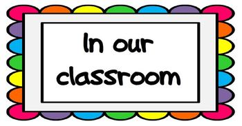 In our Classroom Poster Set