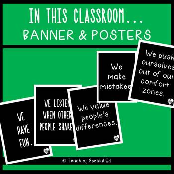 In this Classroom  - Posters and Banner
