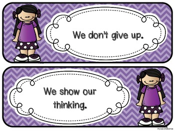 In this Classroom We... (rules and expectations) - Chevron