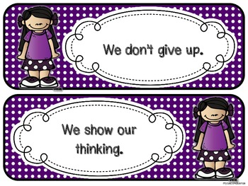 In this Classroom We... (rules and expectations) - Polka Dots