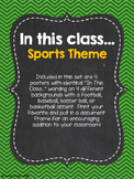 In this class... Sports Theme