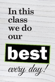 In this class we do our best - poster