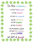 """In this classroom"" Poster- Positive Affirmation Posters"